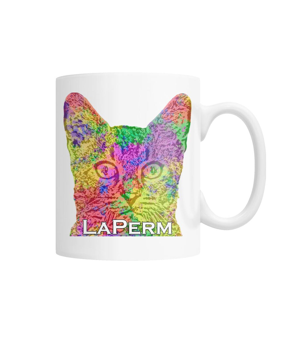 LaPerm Watercolor Mug