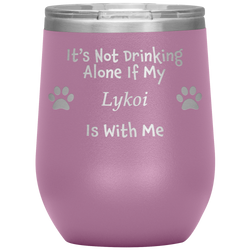 It's Not Drinking Alone If My Lykoi Is With Me
