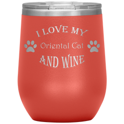 I Love My Oriental Cat and Wine