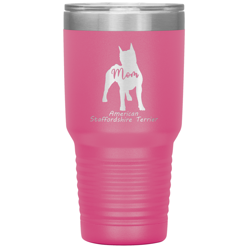 American Staffordshire Terrier Mom Silhouette 30 Oz. Tumbler
