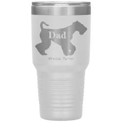 Airedale Terrier Dad Silhouette 30 Oz. Tumbler
