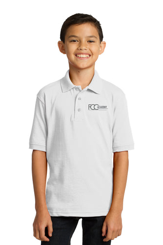 KP55Y Port & Company® Youth Core Blend Jersey Knit Polo (2 Colors Available)