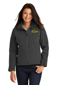 L706 Port Authority® Ladies Textured Hooded Soft Shell Jacket