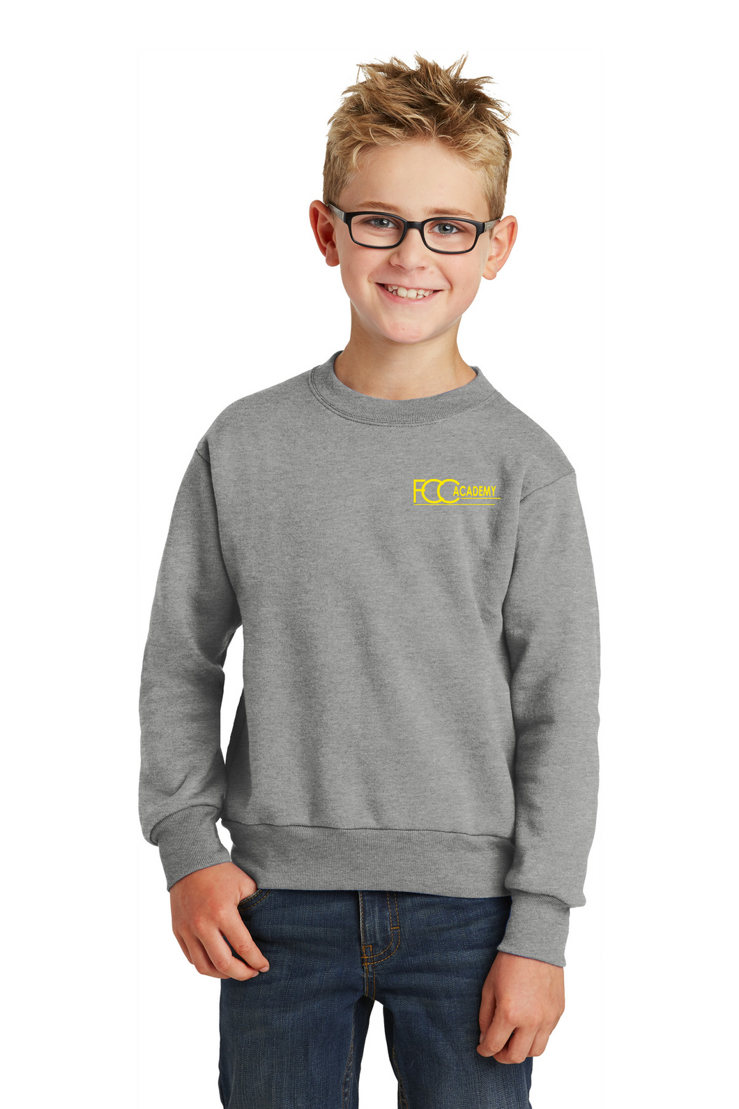 PC90Y Port & Company® - Youth Core Fleece Crewneck Sweatshirt (3 Available Colors)