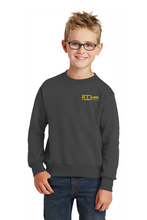 Load image into Gallery viewer, PC90Y Port & Company® - Youth Core Fleece Crewneck Sweatshirt (3 Available Colors)