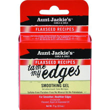 Load image into Gallery viewer, Aunt Jackie's Curls & Coils Flaxseed Recipes Tame My Edges Smoothing Gel