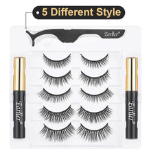 Load image into Gallery viewer, Magnetic Lashes 5 Pack w/ Magnetic Eyeliner
