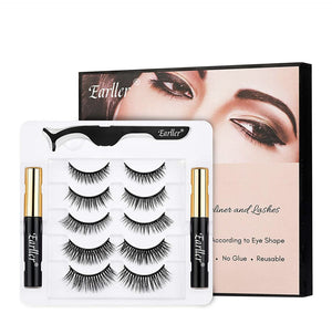 Magnetic Lashes 5 Pack w/ Magnetic Eyeliner