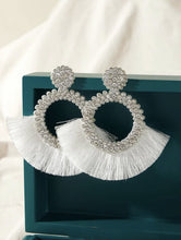 Load image into Gallery viewer, Rhinestone Fringe Earrings