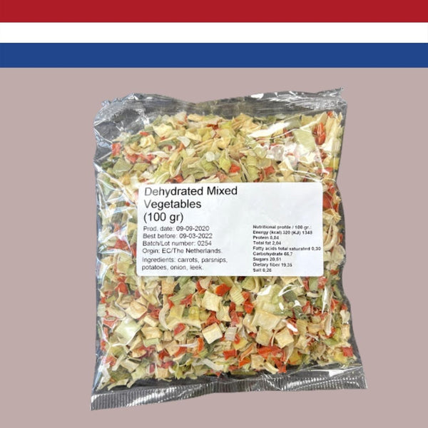 Dehydrated Mixed Vegetables 100g