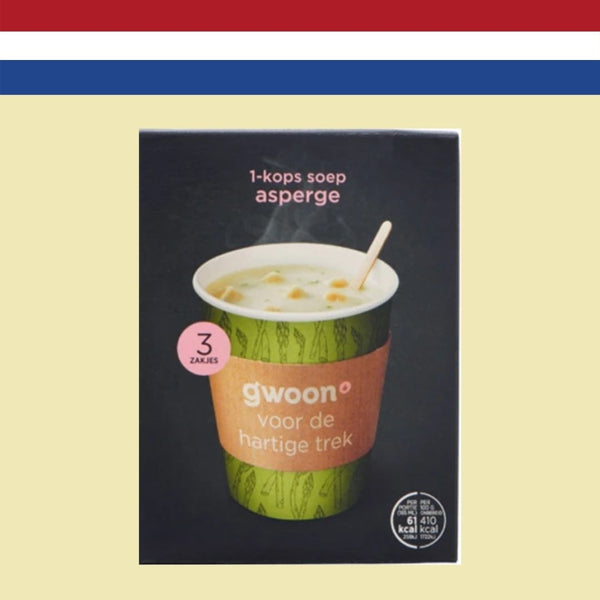 Gwoon 1-Cup Soup - Asparagus 3x15g