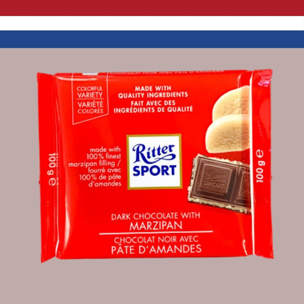 Ritter Sport Dark Chocolate with Marzipan