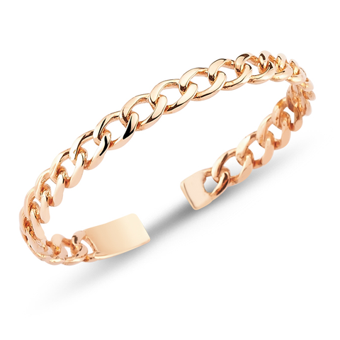 24k Gold Plated Cuff - Rose