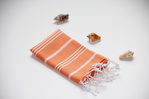 Breeze Orange Hand Towel
