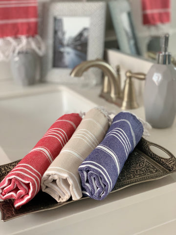 Breeze Red Hand/Kitchen Towel
