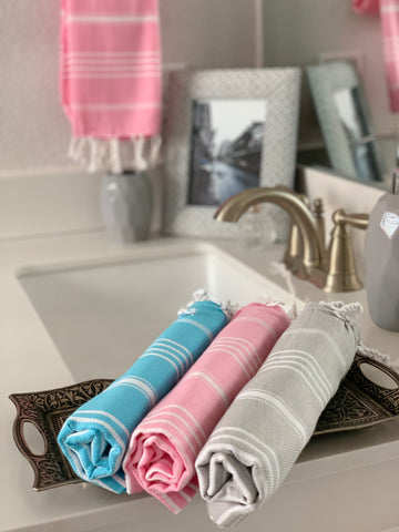 Breeze Bright Pink Hand/Kitchen Towel