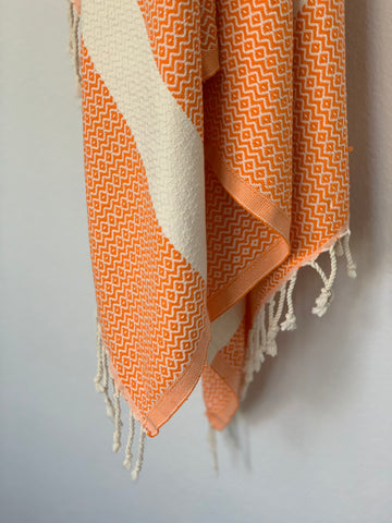 Aegean Orange Peshtemal Turkish Towel