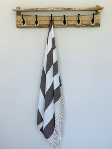 Seaside Brown Peshtemal Turkish Towel