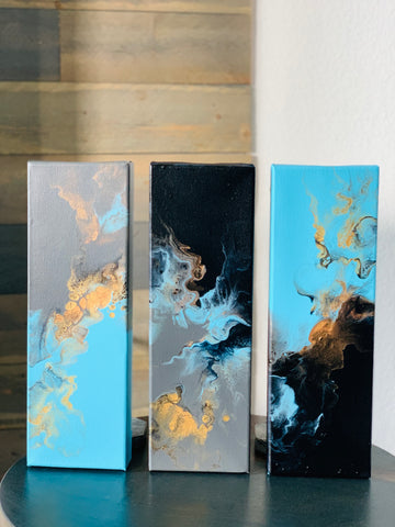 Triptych Golden Blues