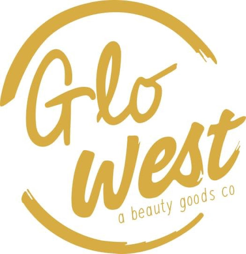 Soft gold broken circle, like the California sun. Laid back Glo West logo embodies Ojai and the Southern California outdoor life style.
