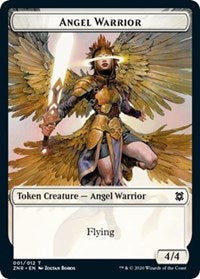 Angel Warrior // Shark Double-sided Token (Challenger 2021) [Unique and Miscellaneous Promos] | Accidentally Cool Games