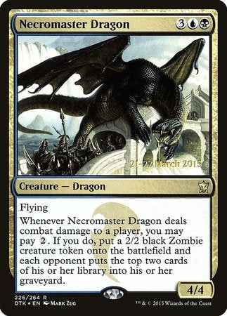 Necromaster Dragon [Dragons of Tarkir Promos] | Accidentally Cool Games