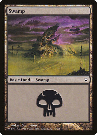 Swamp (170) [New Phyrexia] | Accidentally Cool Games