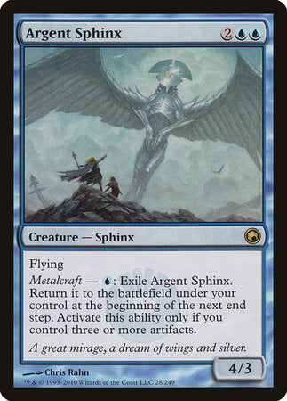 Argent Sphinx [Scars of Mirrodin] | Accidentally Cool Games