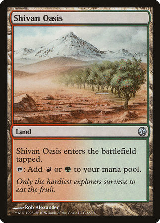 Shivan Oasis [Duel Decks: Phyrexia vs. the Coalition] | Accidentally Cool Games