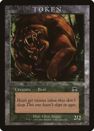Bear Token (Onslaught) [Magic Player Rewards 2003] | Accidentally Cool Games