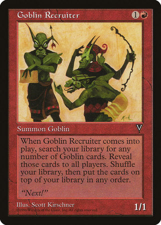 Goblin Recruiter [Visions] | Accidentally Cool Games