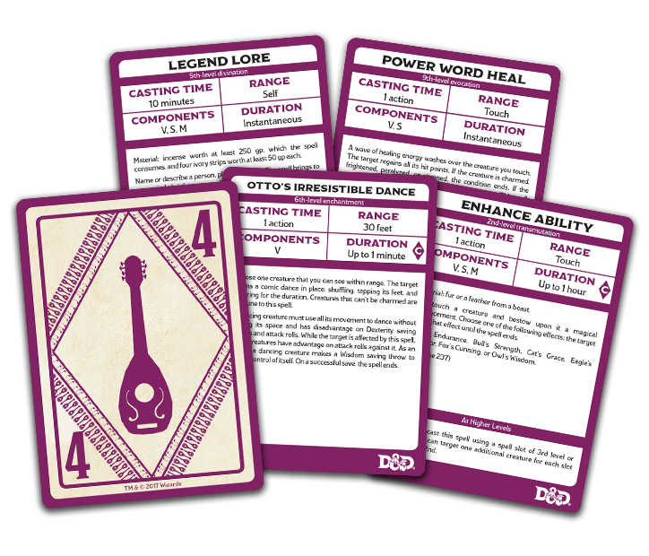 Dungeons & Dragons Spellbook Cards: Bard | Accidentally Cool Games