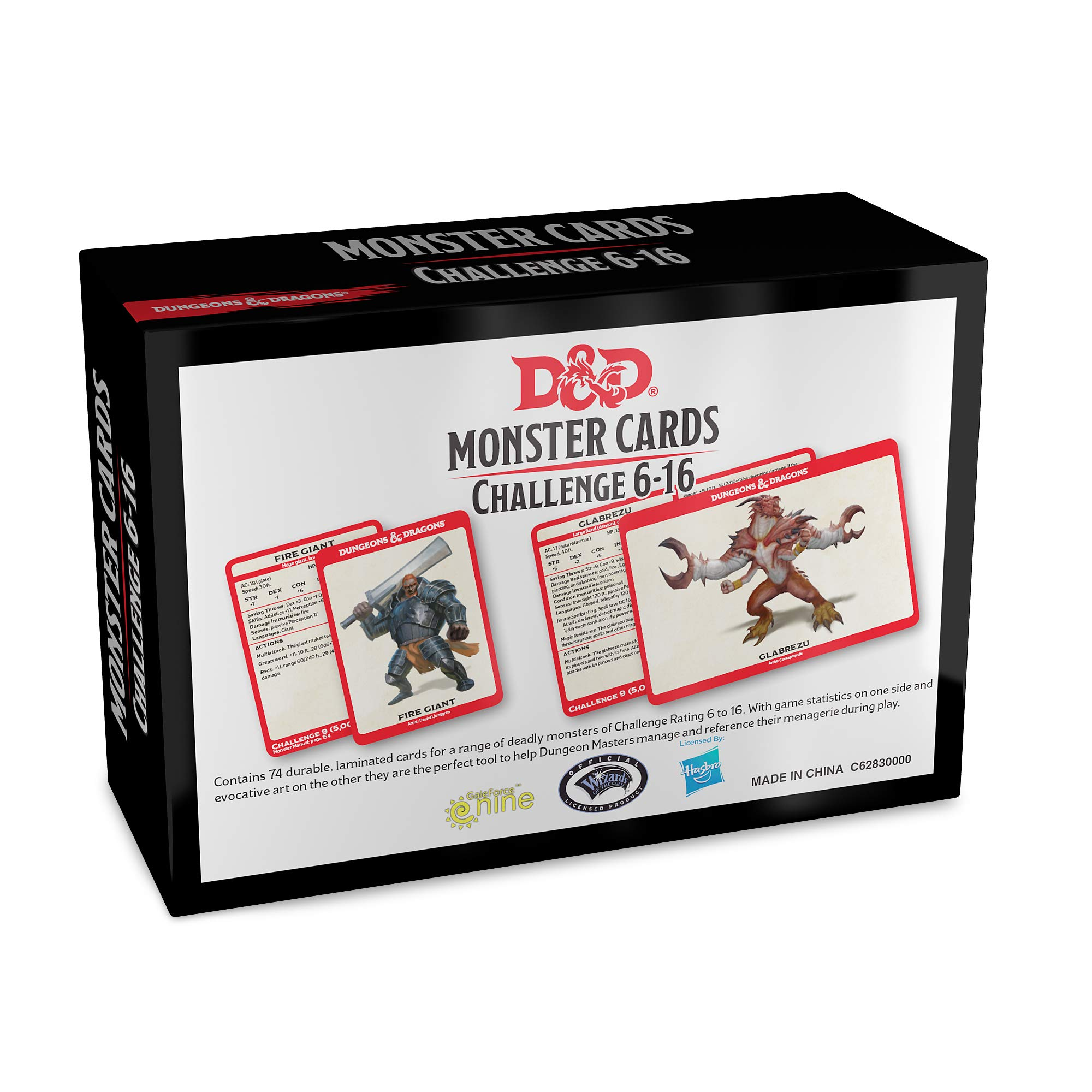 Dungeons & Dragons Monster Cards: Challenge 6-16 | Accidentally Cool Games