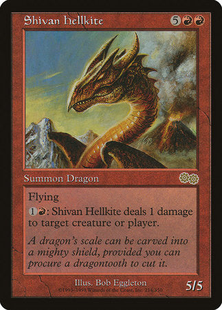Shivan Hellkite [Urza's Saga] | Accidentally Cool Games