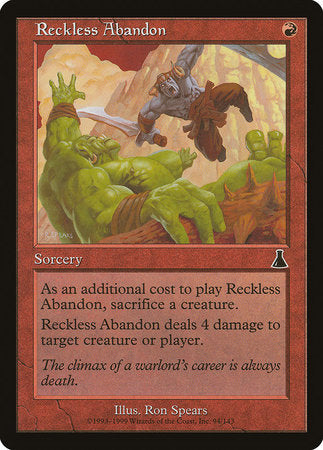 Reckless Abandon [Urza's Destiny] | Accidentally Cool Games