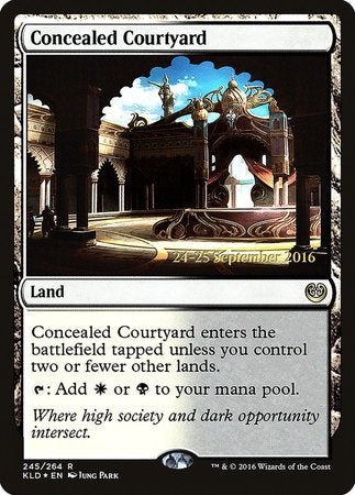 Concealed Courtyard [Kaladesh Promos] | Accidentally Cool Games