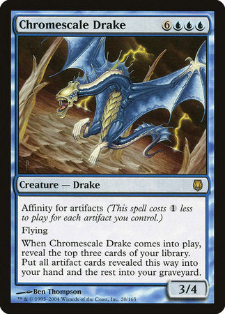 Chromescale Drake [Darksteel] | Accidentally Cool Games