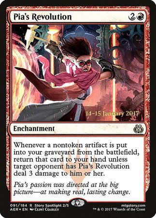 Pia's Revolution [Aether Revolt Promos] | Accidentally Cool Games