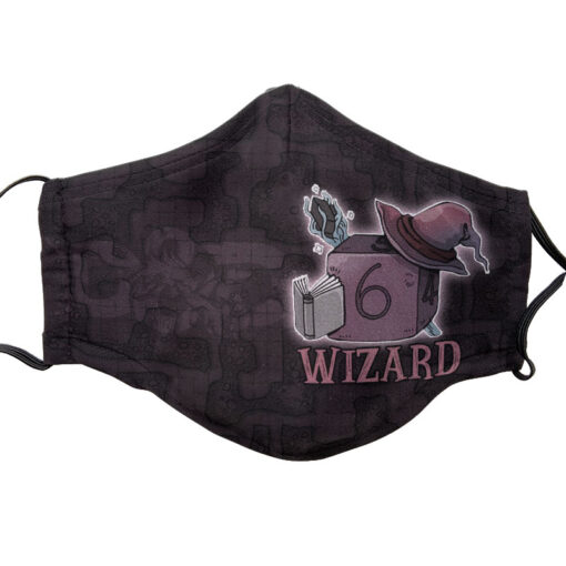 D&D Themed Face Mask - Wizard | Accidentally Cool Games