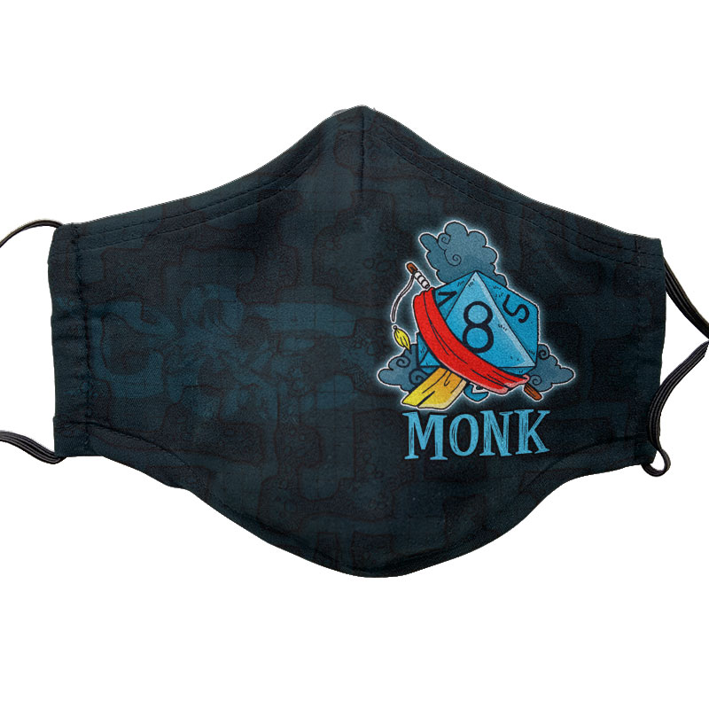 D&D Themed Face Mask - Monk | Accidentally Cool Games
