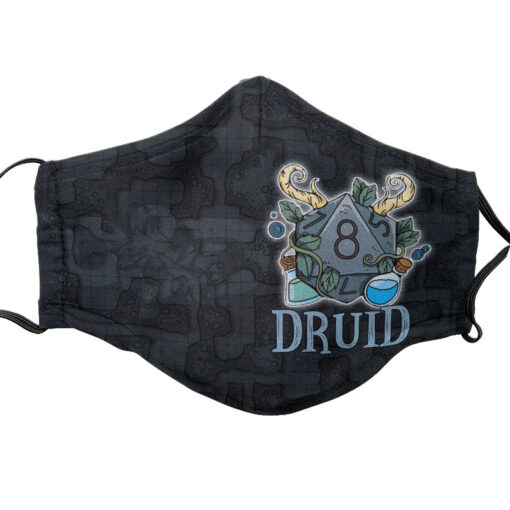 D&D Themed Face Mask - Druid | Accidentally Cool Games