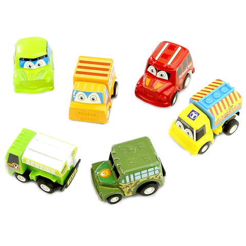 4PCS Mini Pull Back Vehicles Car Raced Toy Play Perfet Gift for Kids Toddler