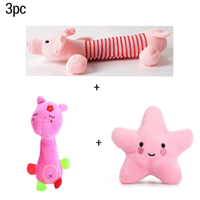Soft Dog Toy With Fleece Durability