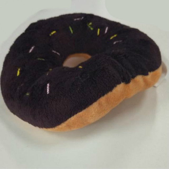 Cotton Sqeaky Donut Dog Chew Toy