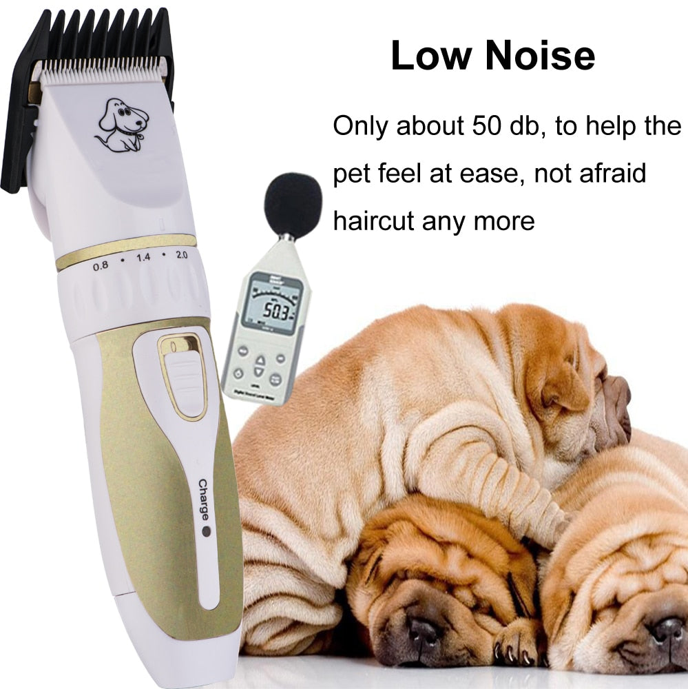 Professional Rechargeable Dog Hair Trimmer Set
