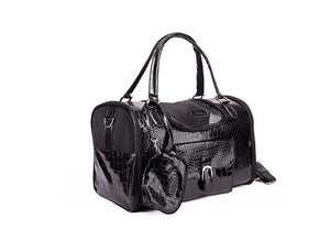 Portable Outdoor Dog Carrier Bag With Purse Leather