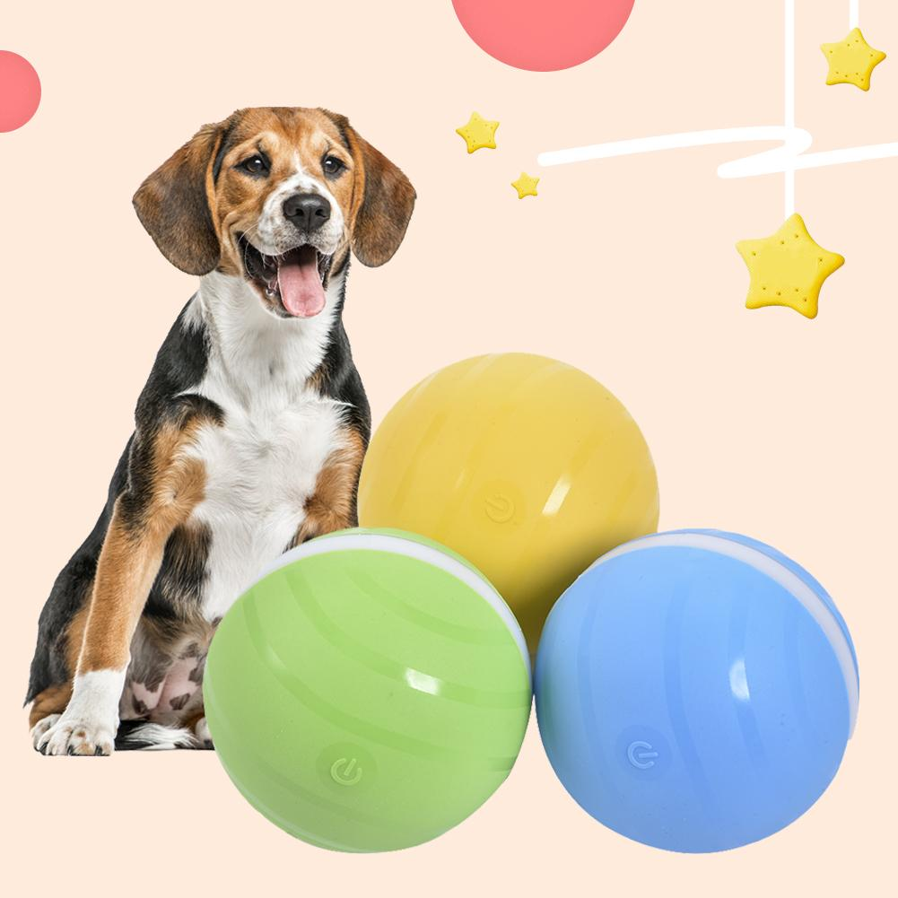 Interactive Waterproof Rubber Automatic LED Ball Toy For Dogs