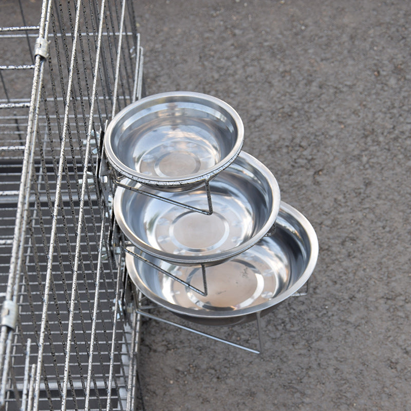 Hanging Stainless Steel Dog Bowl