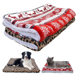 Christmas Ultra Fleece Dog Bed