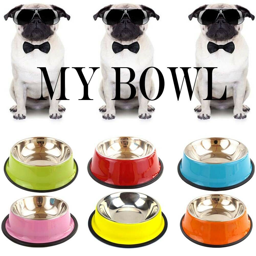 Stainless Steel Travel Food Dog Bowls Dish